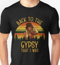 Back To The Gypsy That I Was vintage Retro T-Shirt Slim Fit T-Shirt