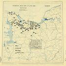Zwölfter Armeegruppe - Lageplan 27. Juni 1944 von allhistory