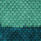 SHELTER / Grün, Petrol von Daniel Coulmann