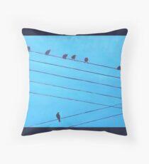 Birds, Wires 6 Throw Pillow
