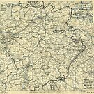Zwölfte Armeegruppen - Lagekarte des 18. April 1945 von allhistory