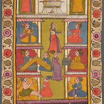 Vintage golden Indian pattern design by Geekimpact