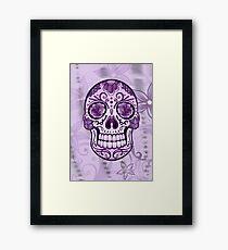 Floral Sugar Skull Totenkopf Totenschädel Day Of The Dead  Gerahmtes Wandbild