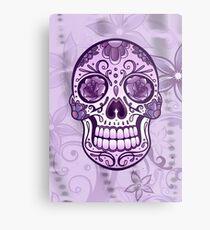 Floral Sugar Skull Totenkopf Totenschädel Day Of The Dead  Metalldruck