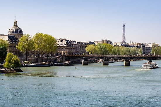 River Seine and The Eiffel Tower by PatiDesigns