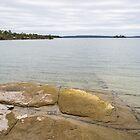 Tiled Bedrock - Lake Manitou Cool Vista by Georgia Mizuleva