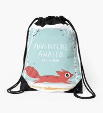 Adventure Awaits Drawstring Bag