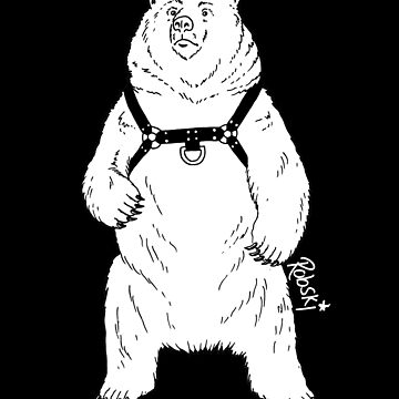 Leather Bear White-out by RobskiArt