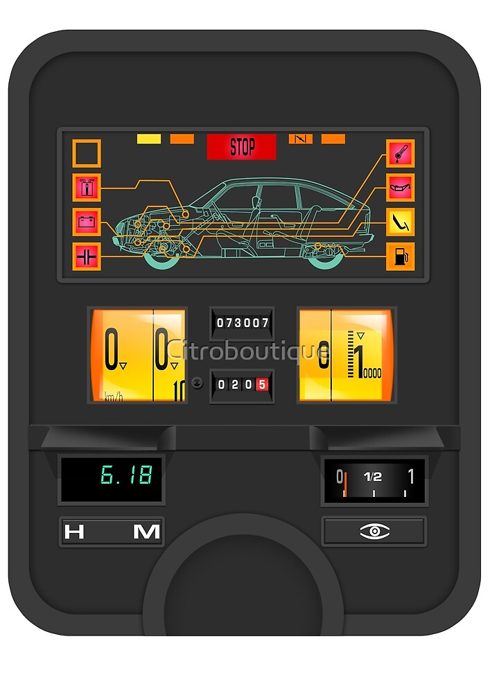 Citroën GSA dashboard instrument panel by Citroboutique