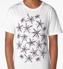 Virus Pattern Resembling Molecules - Retro Modern Microbiology Fun Long T-Shirt