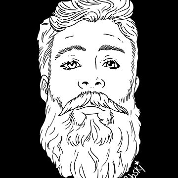 Beardy handsome whiteout by RobskiArt