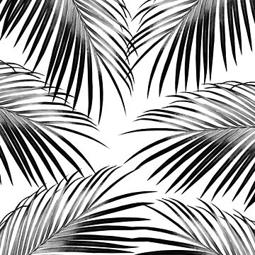 Black Palm Leaves Dream #2 #tropical #decor #art  by anitabellajantz