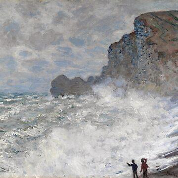 Rough weather at Etretat, Claude Monet by fourretout