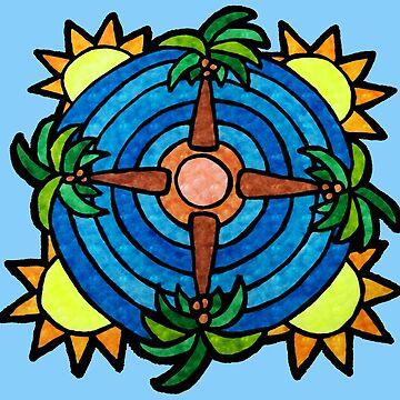 Tropical Island Themed Mandala by gorff