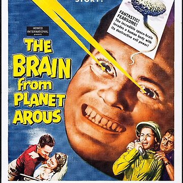 Classic Movie Poster - The Brain From Planet Arous by SerpentFilms