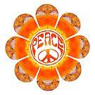 Yummy Orange Peace Flower by MagickMama