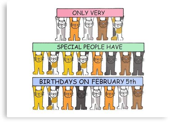 Lienzos Metálicos 5 De Febrero Cumpleaños Dibujos Animados De