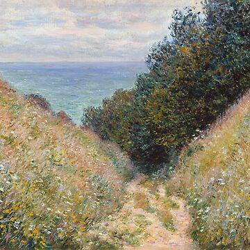 Road at La Cavée, Claude Monet by fourretout