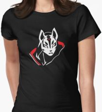 Vector Nomade Skin Black / Red / White Women's Fitted T-Shirt