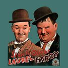 STAN & OLIVER, Laurel and Hardy,  Movie Poster by TOM HILL - Designer
