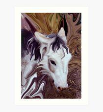 my little donkey Art Print
