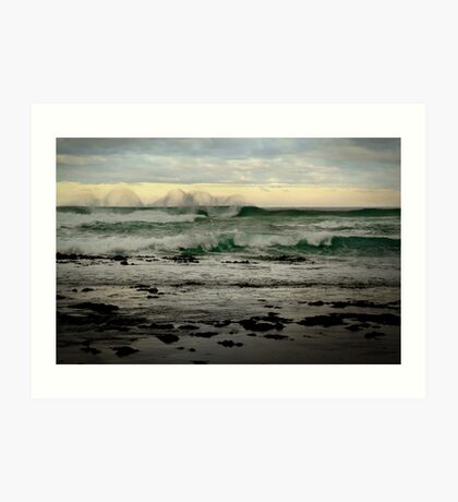 Wispy Surf,Great Ocean Road Art Print
