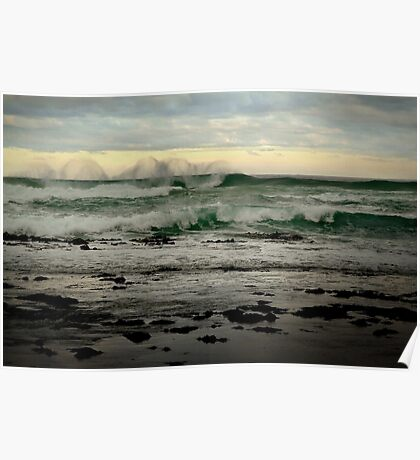 Wispy Surf,Great Ocean Road Poster