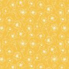 Sunny yellow anemone pattern by purplesparrow