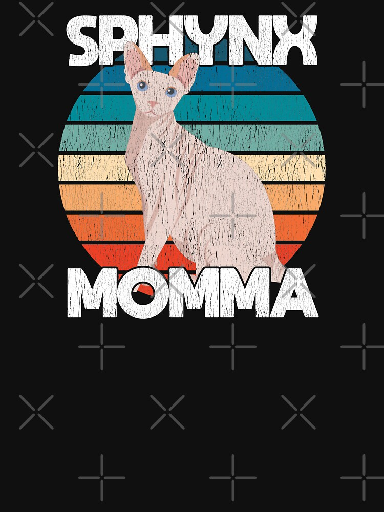 Sphynx Cat Momma Funny Distressed Design - Sphynx Momma  by kudostees