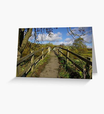 Footbridge to the Dales Greeting Card