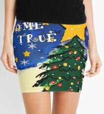 may your christmas dreams come true Mini Skirt
