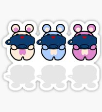 STPC: Three Chibis (Sipping Tea) Sticker