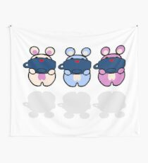 STPC: Three Chibis (Sipping Tea) Wall Tapestry