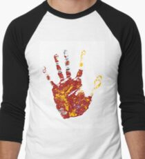hand print design  Men's Baseball ¾ T-Shirt