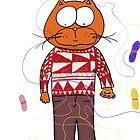 A Kitten loves his yarn! by Michael Erdman