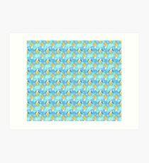 Banana Stars Scalloped Pattern Art Print