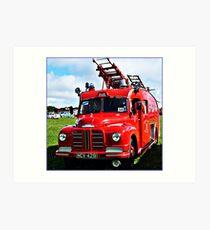 """"""" A War Time Fire Engine"""" Art Print"""