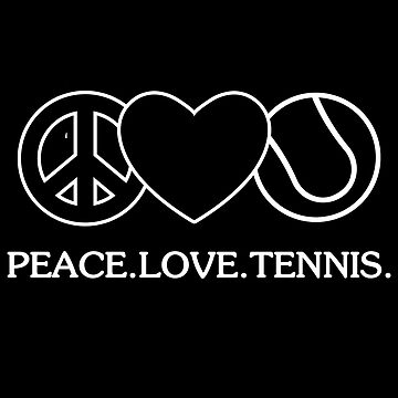 Tennis tennis ball love peace sign heart gift by Rueb