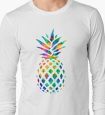 Rainbow Pineapple Long Sleeve T-Shirt