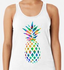 Rainbow Pineapple Racerback Tank Top