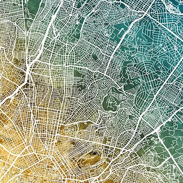 Athens Greece City Map by ArtPrints