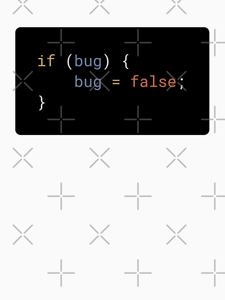JavaScript - If Bug Bug Equals False (with background) by developer-gifts