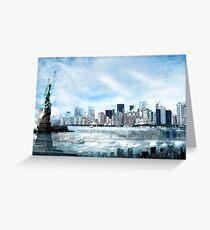 Wrong Expectations, New York City, USA Greeting Card