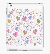 Floral and heart print iPad Case/Skin