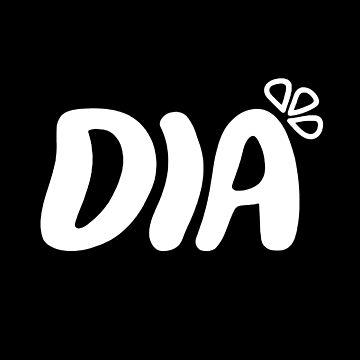 DIA - logo blanco de bballcourt