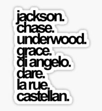 Percy Jackson And the Olympians characters Sticker