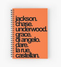 Percy Jackson And the Olympians characters Spiral Notebook