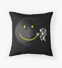 Make a Smile Throw Pillow