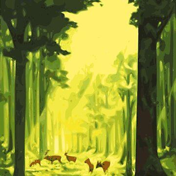 Deer Forest by realmatdesign