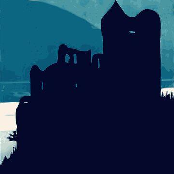 Blue Night Castle  by realmatdesign